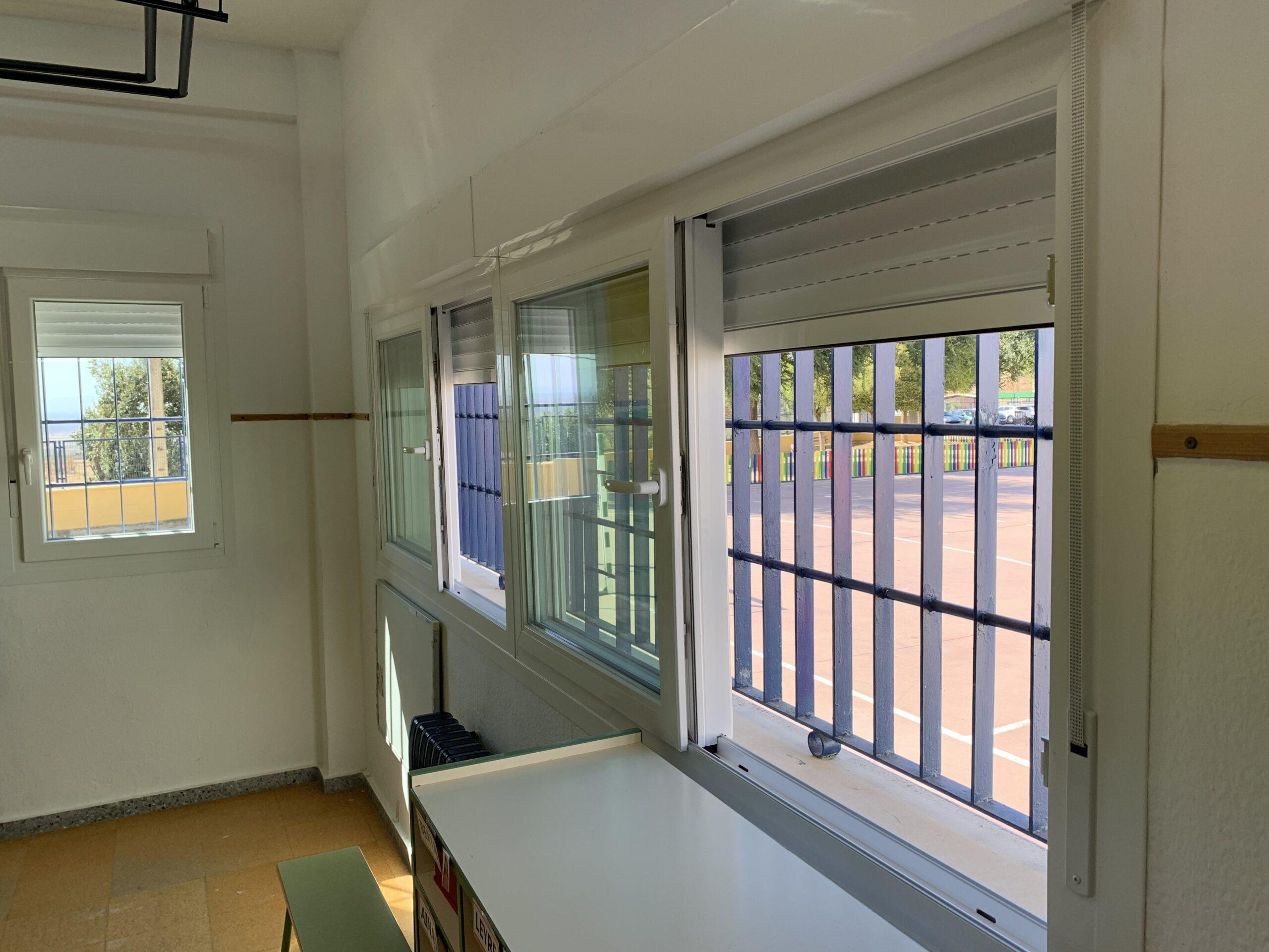 eficiencia energetica ventanas colegios